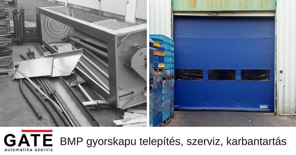 BMP ipari gyorskapu telepítés