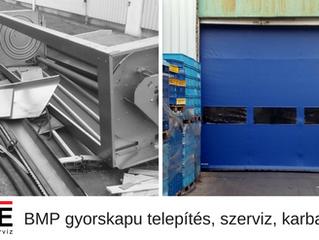 BMP ipari gyorskapu telepítése