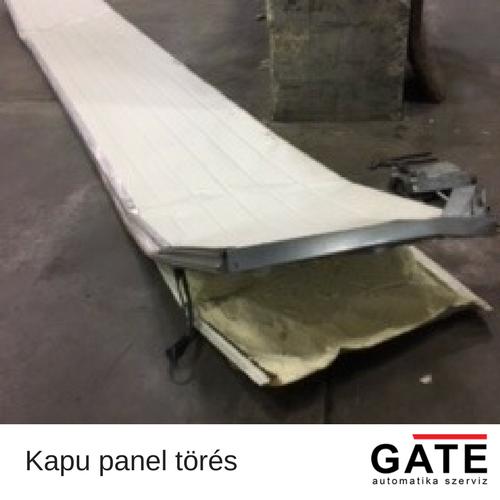 kapu panel törés