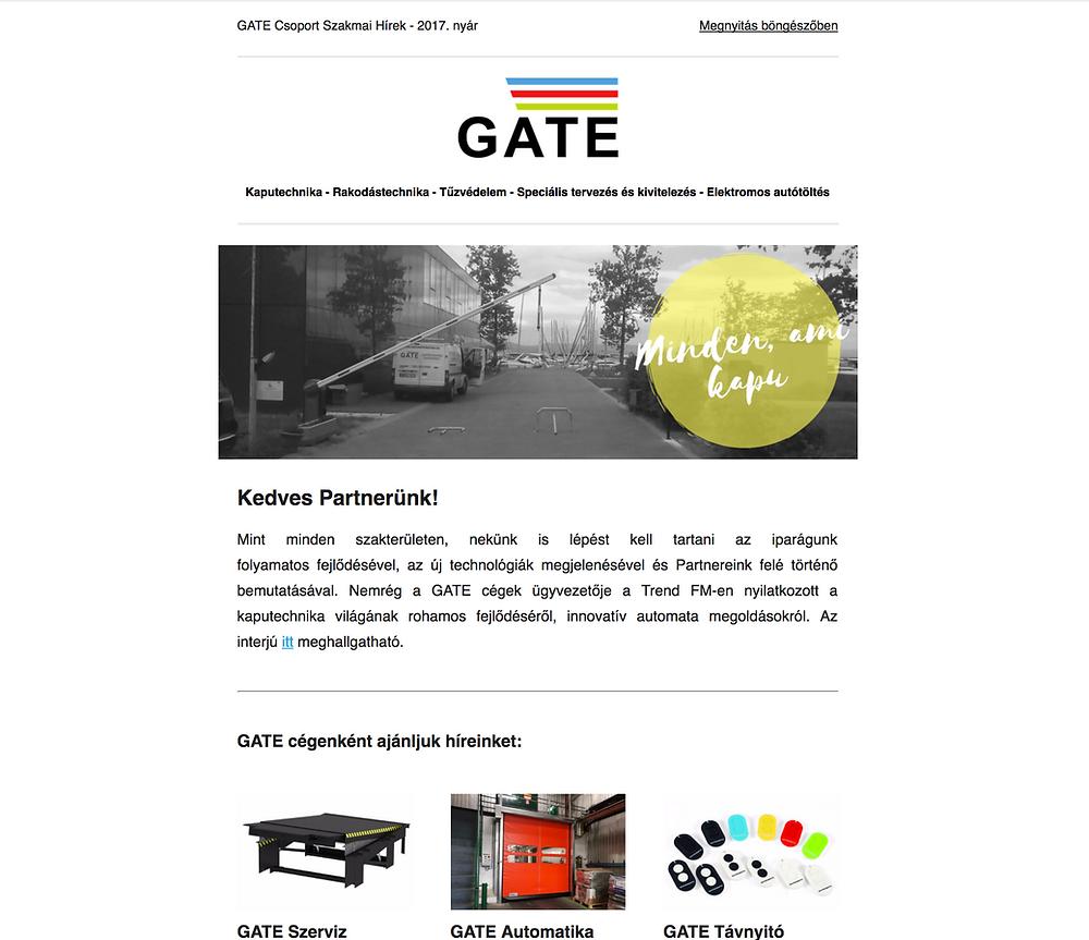 GATE Csoport szakmai hirlevel - 2017. nyár