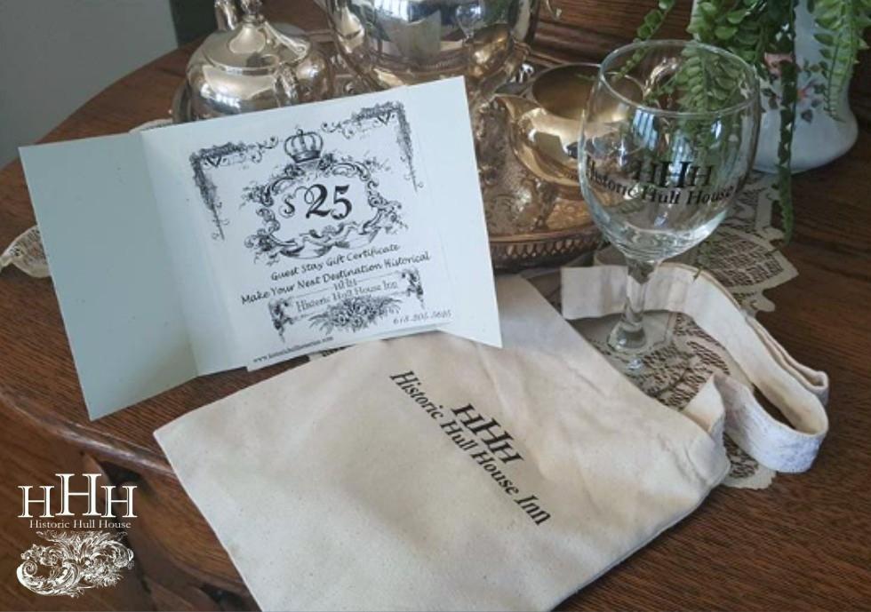 Historic Hull House Inn gift certificate