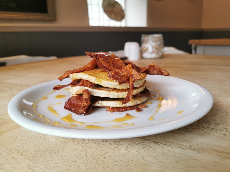 Bacon pancake stack