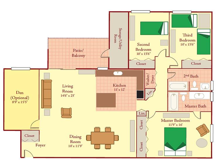 3 bedroom legacy
