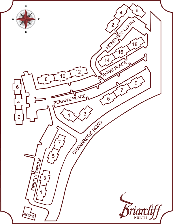 Briarcliff North Property Map (42 x 33 v