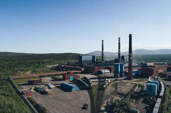 Aluminum Metallurgical Plant Aerial View