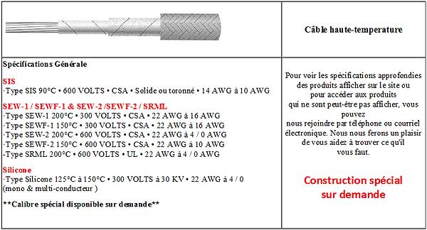 Fiche technique SIS SEW-1 SEWF-1 SEW-2 S
