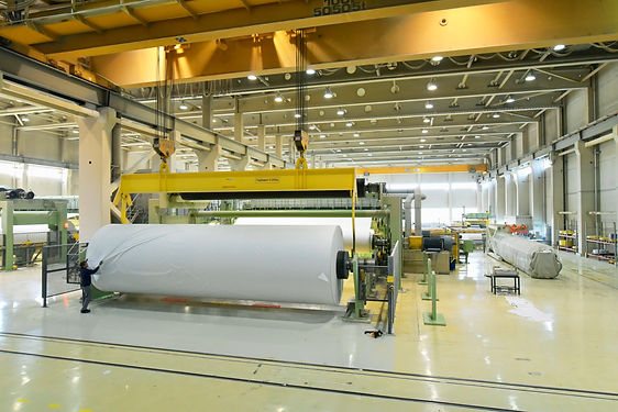 machines for the production of paper rol