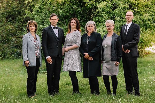 Fotografie der Gründer und Mitarbeiter von Steinke Bestattungen
