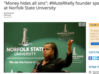 """""""Money hides all sins"""": #MuteRKelly founder speaks at Norfolk State University"""