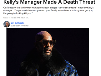Buzzfeed: Alleged Abuse Victim's Father Says R. Kelly's Manager Made A Death Threat
