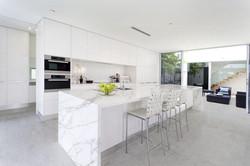 Contemporary Kitchen with Quartz