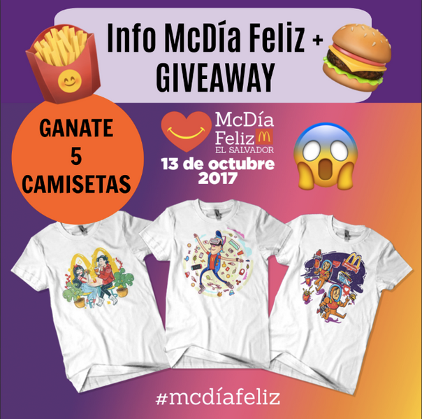 ¡Info McDía Feliz! + GIVEAWAY 5 CAMISETAS 😱