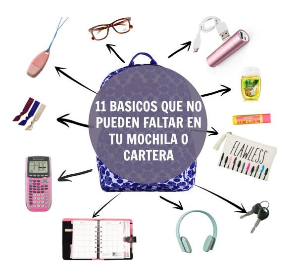 ¡11 cosas que no pueden faltar en tu mochila o cartera!