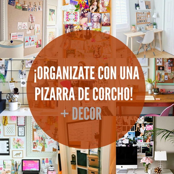 ¡Organízate con una Pizarra de corcho! 📌 + Decor
