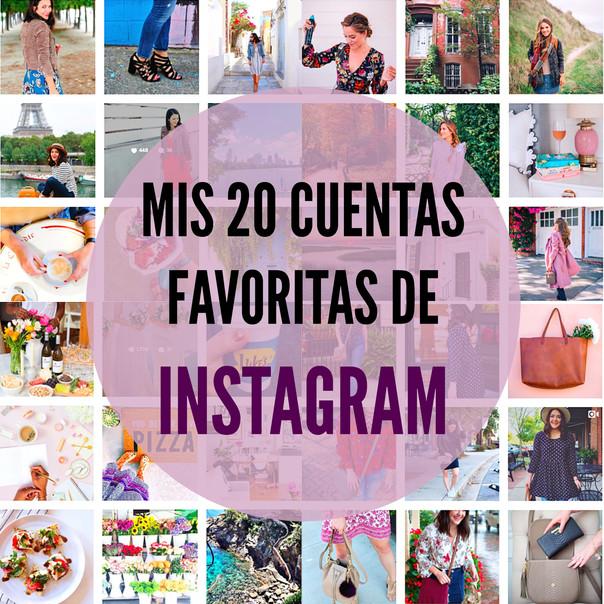 ¡Mis 20 cuentas favoritas de Instagram! 📱📷💕