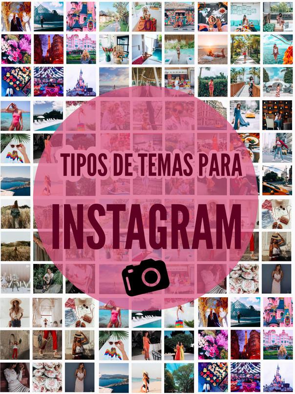 Tipos de temas para Instagram 📷✨