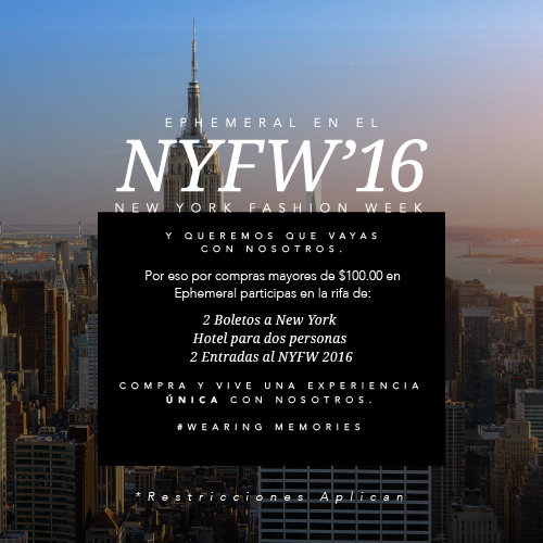 ¿QUISIERAS IR AL NYFW 2016?