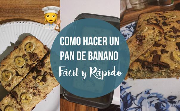 Pan de Banano - ¡Fácil y rápido! 🍞🍌❤️