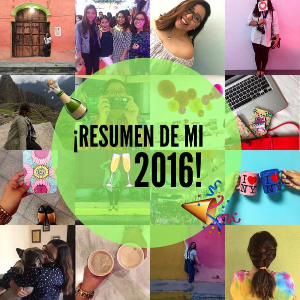 AÑO 2016 en Resumen 🙆🏻💕