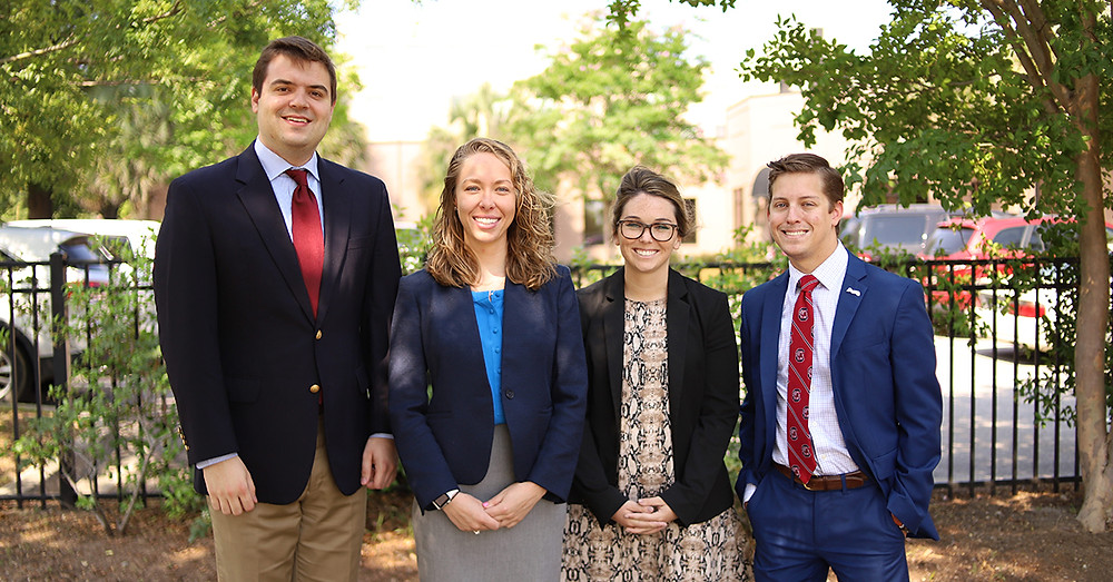 SWB's 2019 Summer Law Clerks. From left: Adam Crain, Lynsey Barker, Brianna Hourihan and Jonathan Savitske.