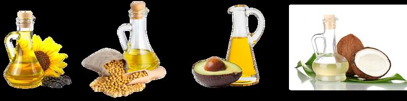 oil, oils, sunflower oil, soybean oil, avocado oil, coconut oil,