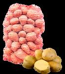 potato sack, potato mesh sack, fresh potato, potato