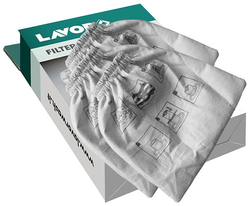 LAVOR - Accessori aspiratore - Filtro in panno (kit 3 pezzi)