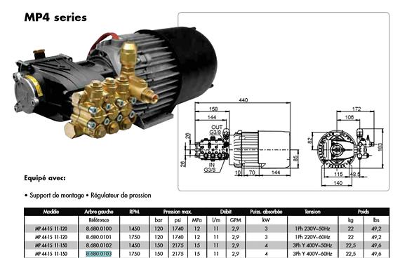 LAVOR - MOTORPUMP 120/11 230V/50Hz (LP15)