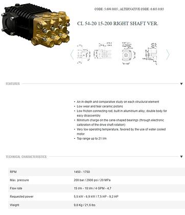 LAVOR - PUMP LW  200/15 1450 DX