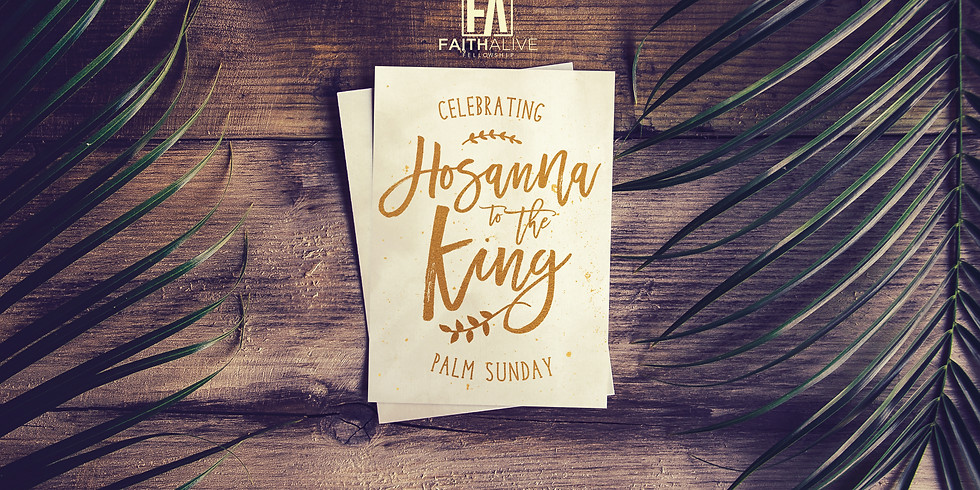 Special Online Palm Sunday Service