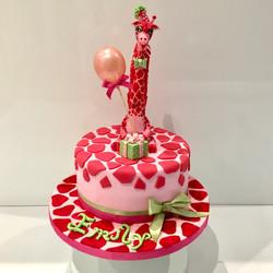 Funky Pink Giraffe cake