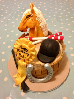 Equestrian themed cake