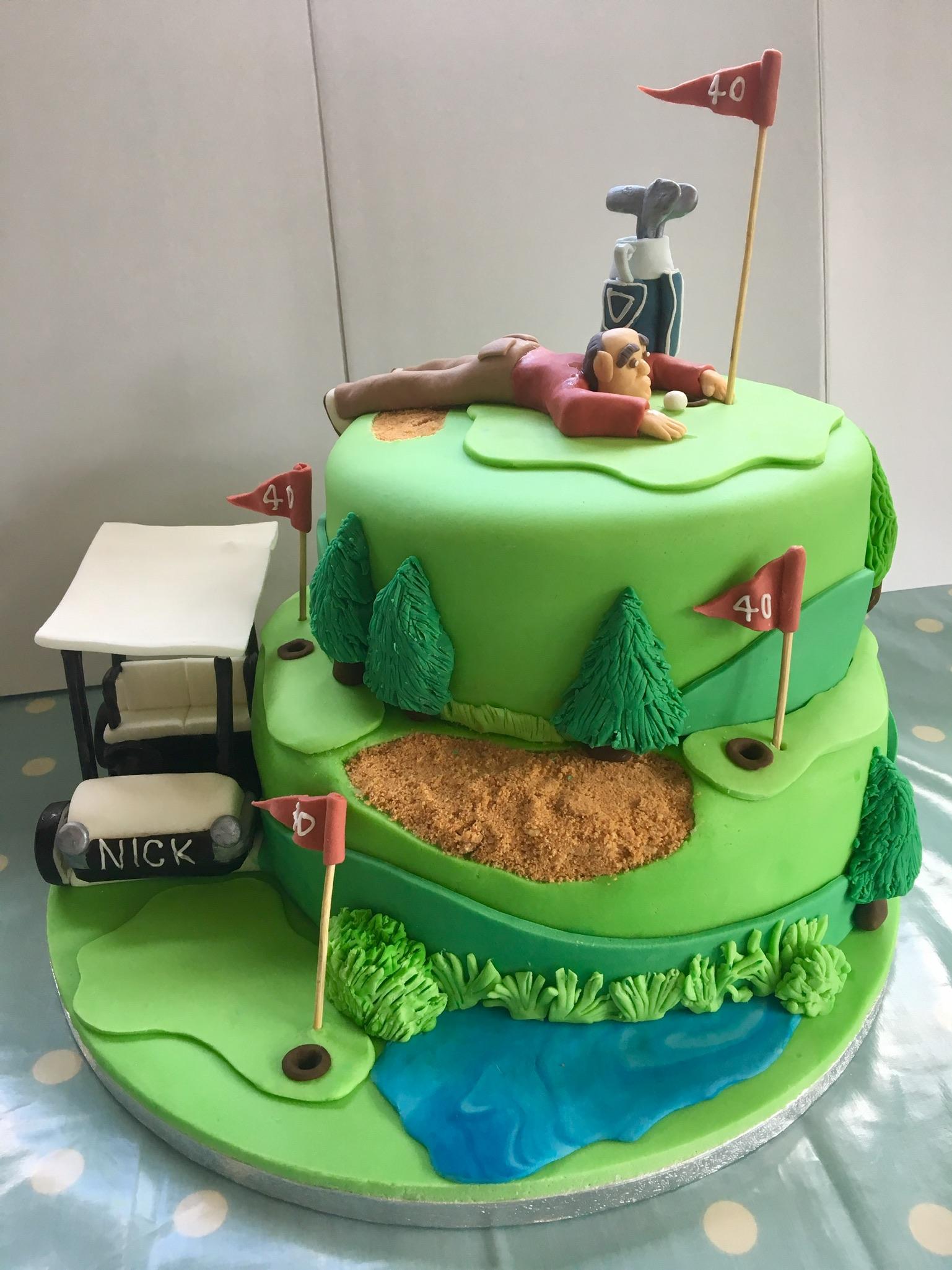 Golf enthusiast cake