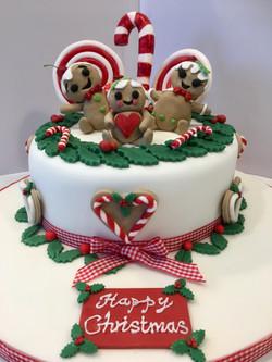 Cute gingerbread christmas cake