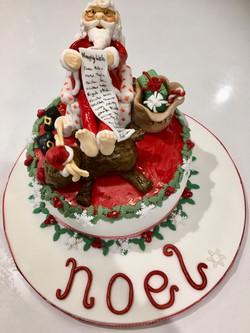 Santa's Naughty List christmas Cake