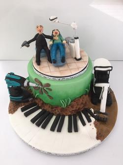 Demon dentist/builder cake