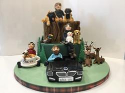 Rustic Family Birthday Cake