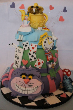 Alice themed cake