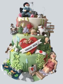 Character wedding cake