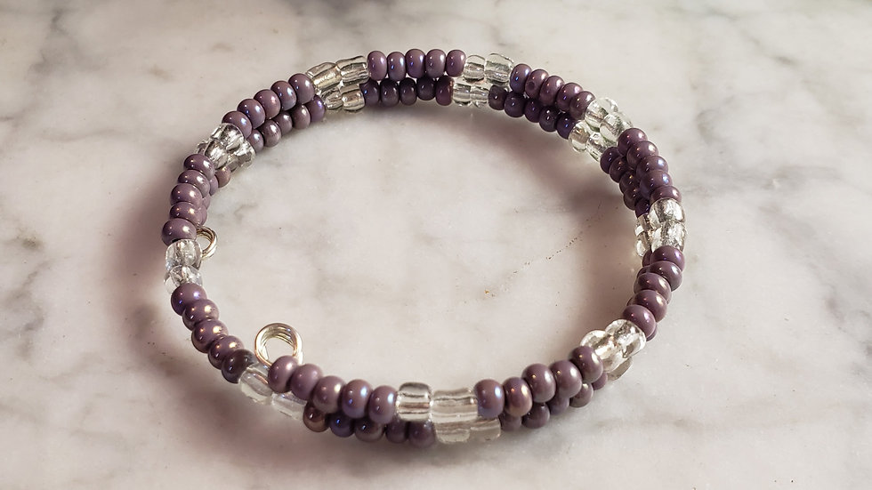 Purple Zebra Bracelet