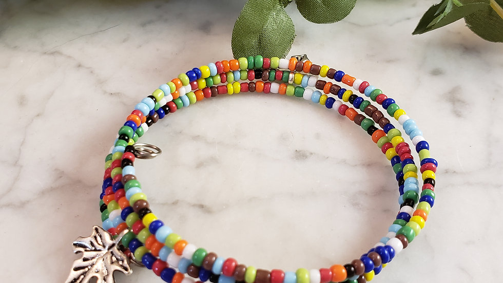 Rainbow Leaf Bracelet