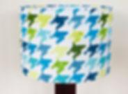 Teal lamp shade