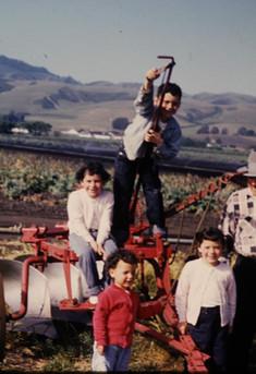 1958 kids at ranch  with Nonno Alfredo.jpg