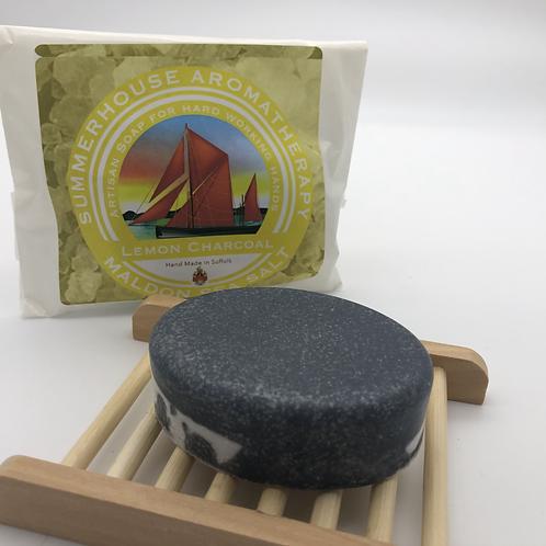 Lemon Charcoal Maldon Sea Salt Soap