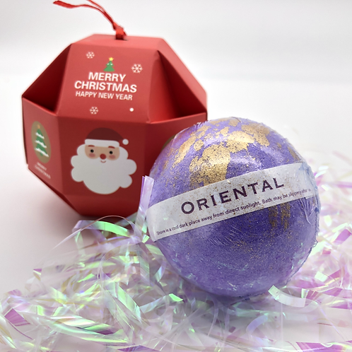 Oriental Christmas Bath Bomb Bauble