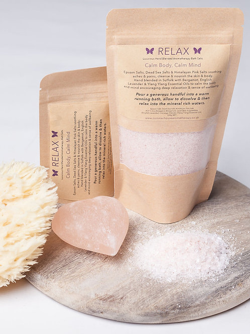 Relax Aromatherapy Bath Salts (80g or 280g)