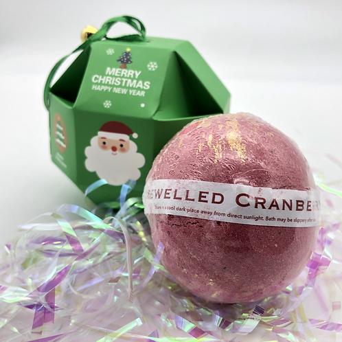 Jewelled Cranberry Christmas Bath Bomb Bauble
