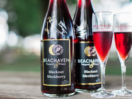 A Total Eclipse of the Sun makes for a Blackout… Blackout Blackberry wine, that is!
