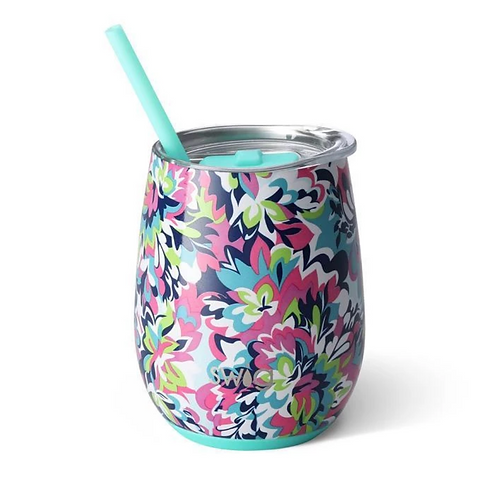 Frilly Lilly 14oz Stemless Wine Cup