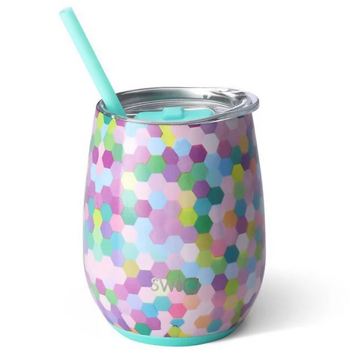 Confetti Party 14oz Stemless Wine Cup